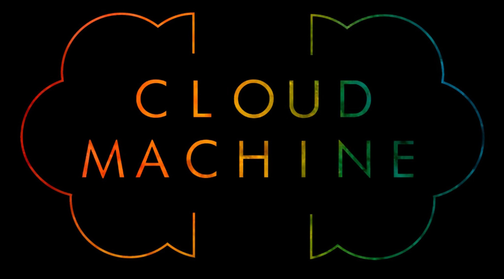 Cloud machine logo small colors